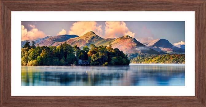 Morning Mists Around Derwent Isle - Framed Print