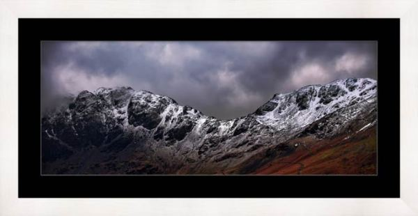 Hay Stacks and Scarth Gap Winter - Framed Print with Mount