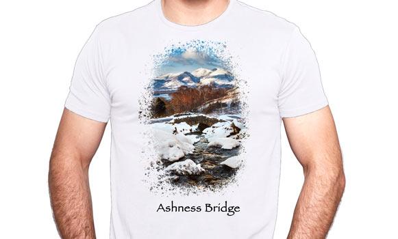 Ashness bridge on a T shirt