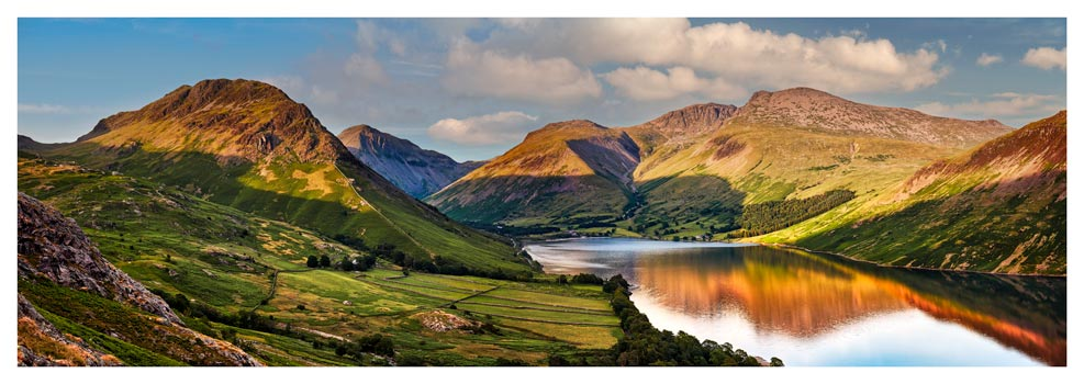 Wast Water in the Evening Sun - Lake District Print