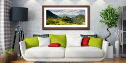Castle Crag Summers Afternoon - Framed Print with Mount on Wall