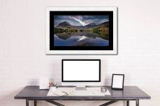 Buttermere Sky Rift - Framed Print with Mount on Wall