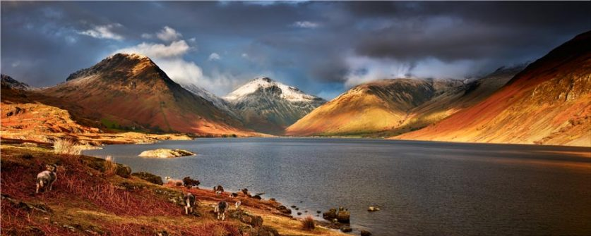Warm Sunlight on Wasdale Head - Lake District Canvas