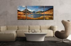 Wast Water Sunlight - 3 Panel Wide Mid Canvas on Wall