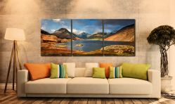 Wast Water Sunlight - 3 Panel Canvas on Wall