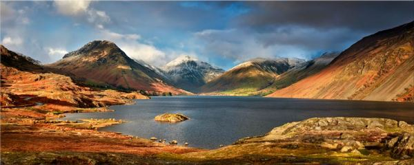 Wast Water Sunlight - Canvas Print