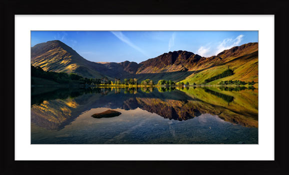 Stillness at Buttermere - Framed Print with Mount