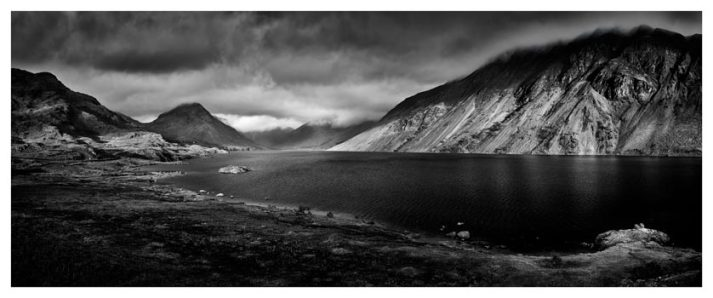 Sunlight on Wast Water - Black White Print