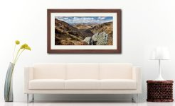 Grisedale Tarn in the Morning Sunshine - Framed Print with Mount on Wall