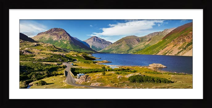 Summer at Wast Water - Framed Print with Mount