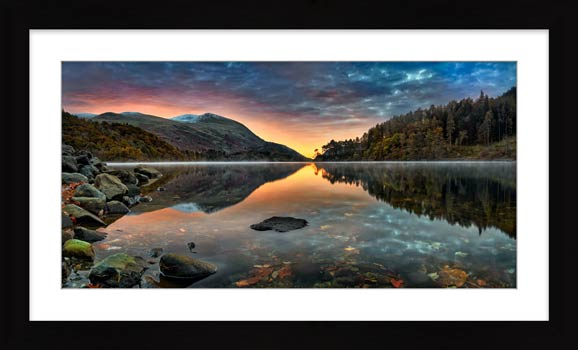 Thirlmere Autumn Dawn - Framed Print