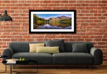Sca Fell in Summer - Framed Print with Mount on Wall