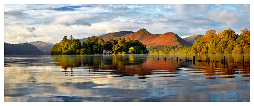 Derwent Isle and Cat Bells - Lake District Print
