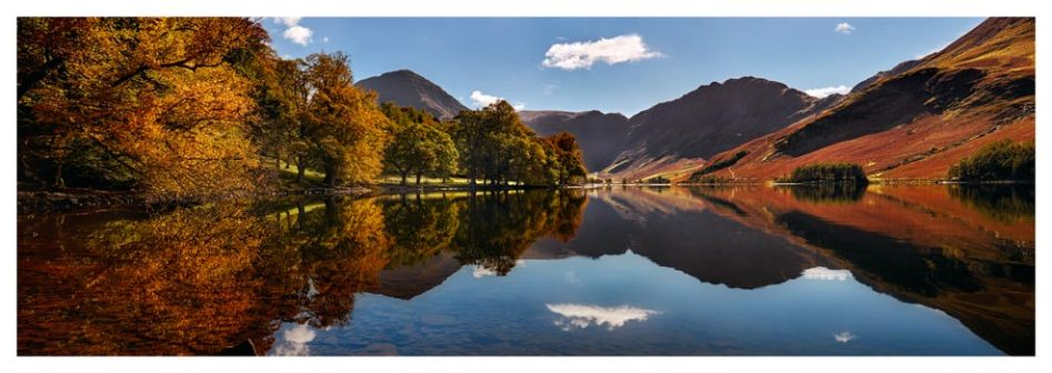 Buttermere Autumn Trees - Lake District Print