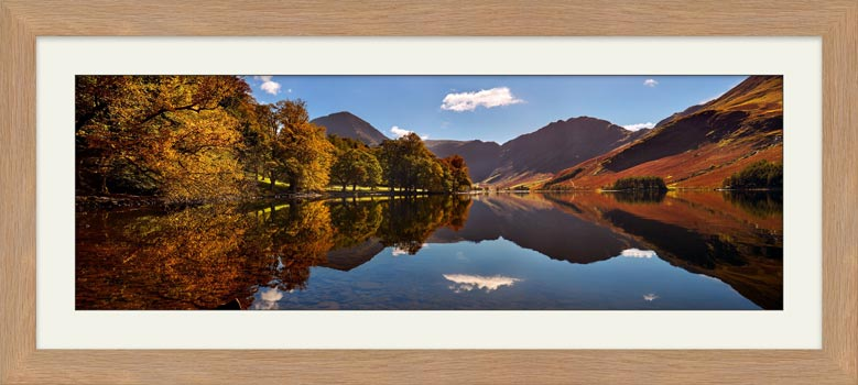 Buttermere Autumn Trees - Framed Print