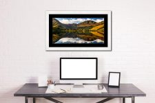 First Light on the Buttermere Pines - Framed Print with Mount on Wall