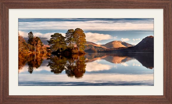 Otter Island in Derwent Water - Framed Print with Mount