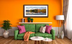 Derwent Isle and Cat Bells - Framed Print with Mount on Wall