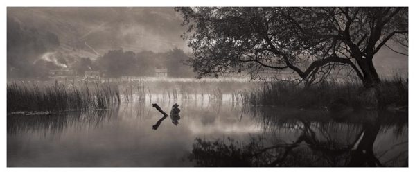 Hartsop Misty Morning - Black White Print