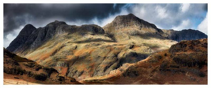 The Langdale Pikes - Lake District Print