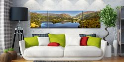 Grasmere Summer Panorama - 3 Panel Wide Centre Canvas on Wall