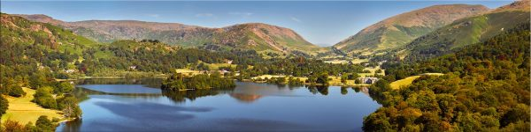 Grasmere Summer Panorama - Canvas Print