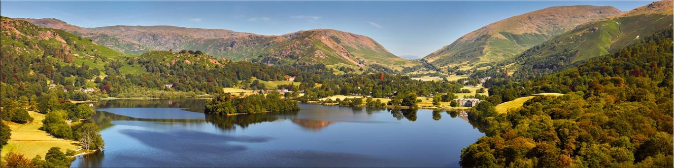 Grasmere Summer Panorama - Canvas Prints