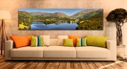 Grasmere Summer Panorama - Lake District Canvas on Wall