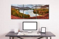 Trees of Grasmere - 3 Panel Canvas on Wall