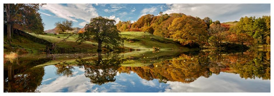 Loughrigg Tarn Autumn Reflections - Lake District Print