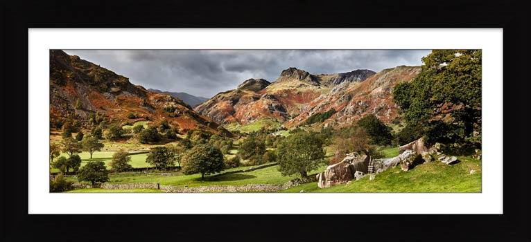 Summer Greens of Langdale - Framed Print
