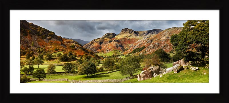 Summer Greens of Langdale - Framed Print