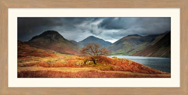 Darkness and Light at Wast Water - Framed Print with Mount