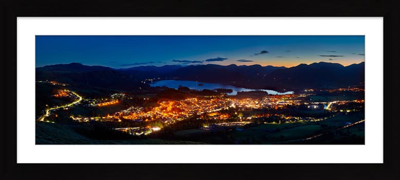 Keswick at Night - Framed Print