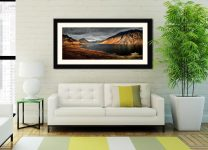 Sunlight on Wast Water - Framed Print with Mount on Wall