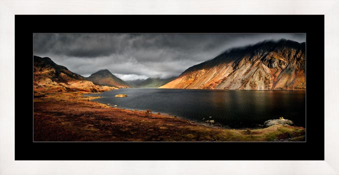 Sunlight on Wast Water - Framed Print with Mount