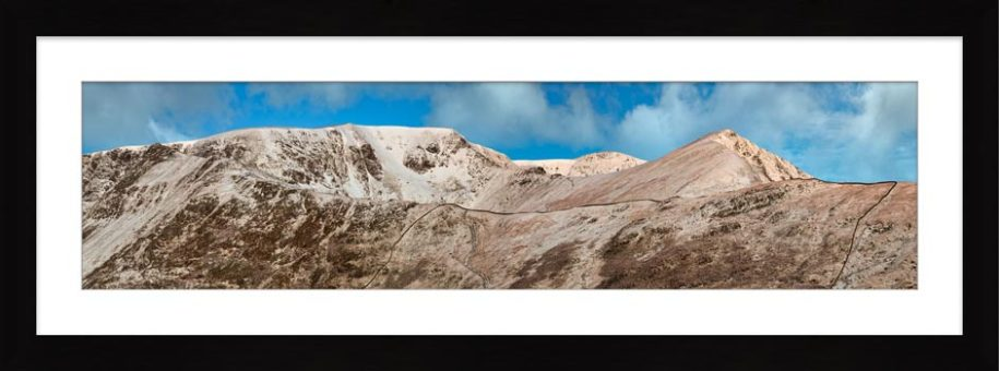 Snow Capped Helvellyn Mountains - Framed Print