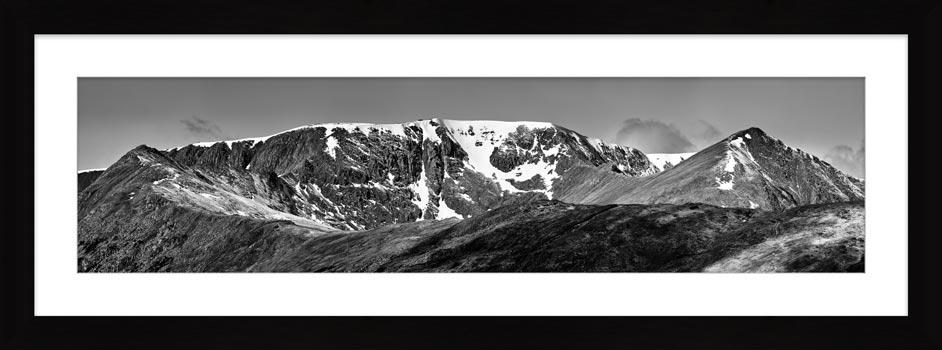 Helvellynn Snow Capped - Framed Print