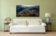 Darkness and Light on the Langdales - Lake District Canvas on Wall