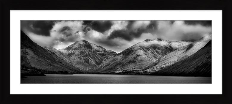 Great Gable and Lingmell - Black White Framed