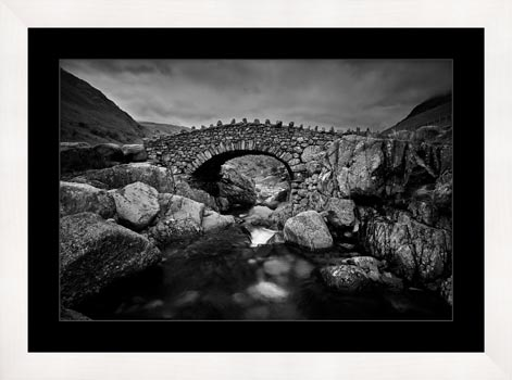Stockley Bridge – Black White Framed with Mount