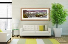 Grasmere Autumn Mists - Framed Print with Mount on Wall