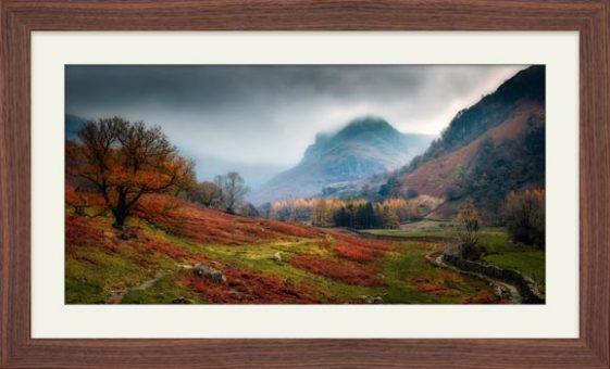 Dark Autumn at Eagle Crag - Framed Print