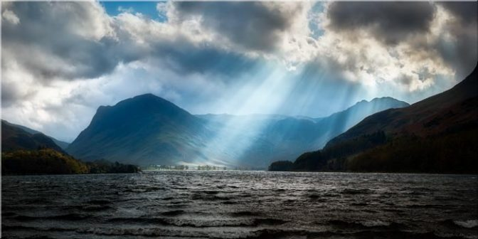Sunbeams Over Buttermere - Lake District Canvas