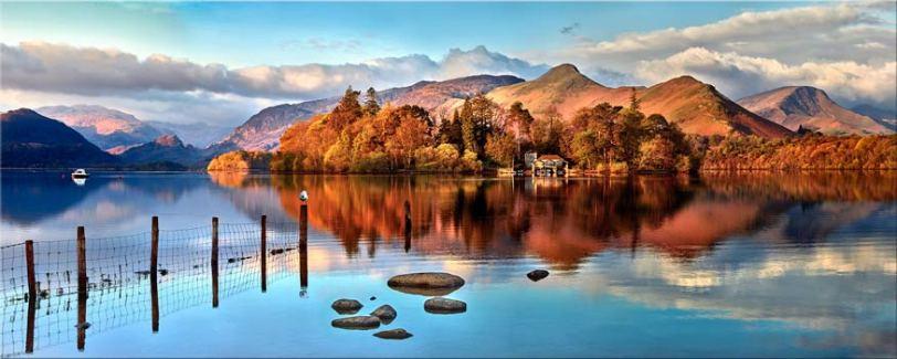 Derwent Water Panorama - Lake District Canvas