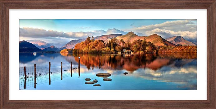 Derwent Water Panorama - Framed Print