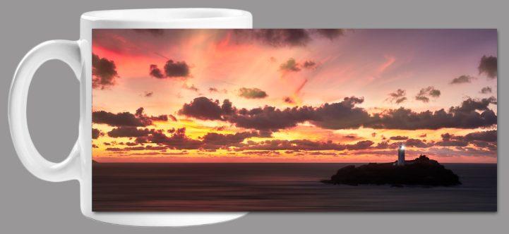 Godrevy Autumn Sunset Mug