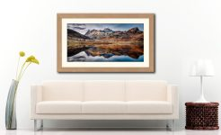 Dusk Over Blea Tarn - Framed Print with Mount on Wall
