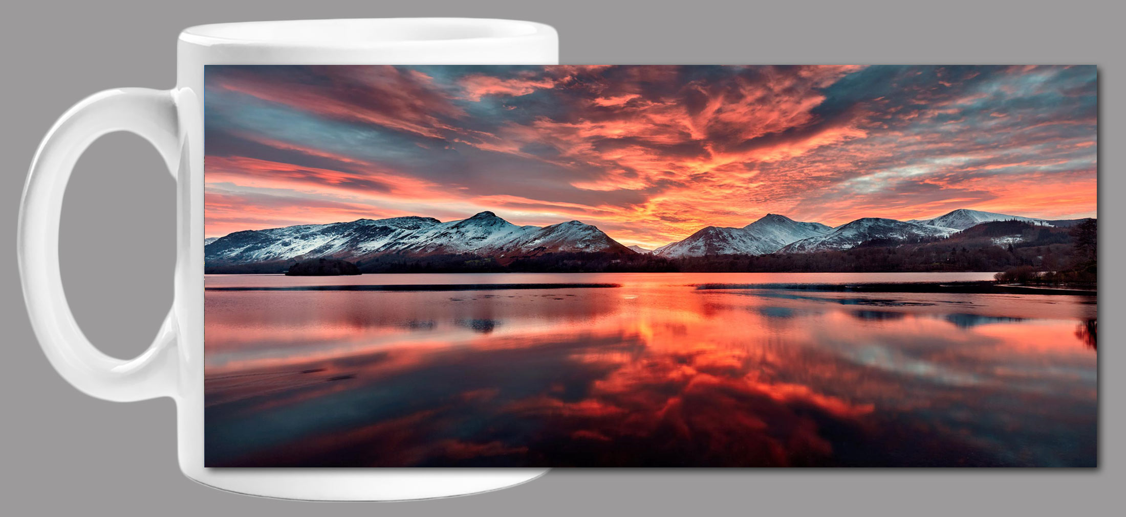 Red Skies Derwent Water Mug
