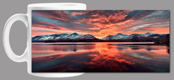 Red Skies Derwent Water Mug